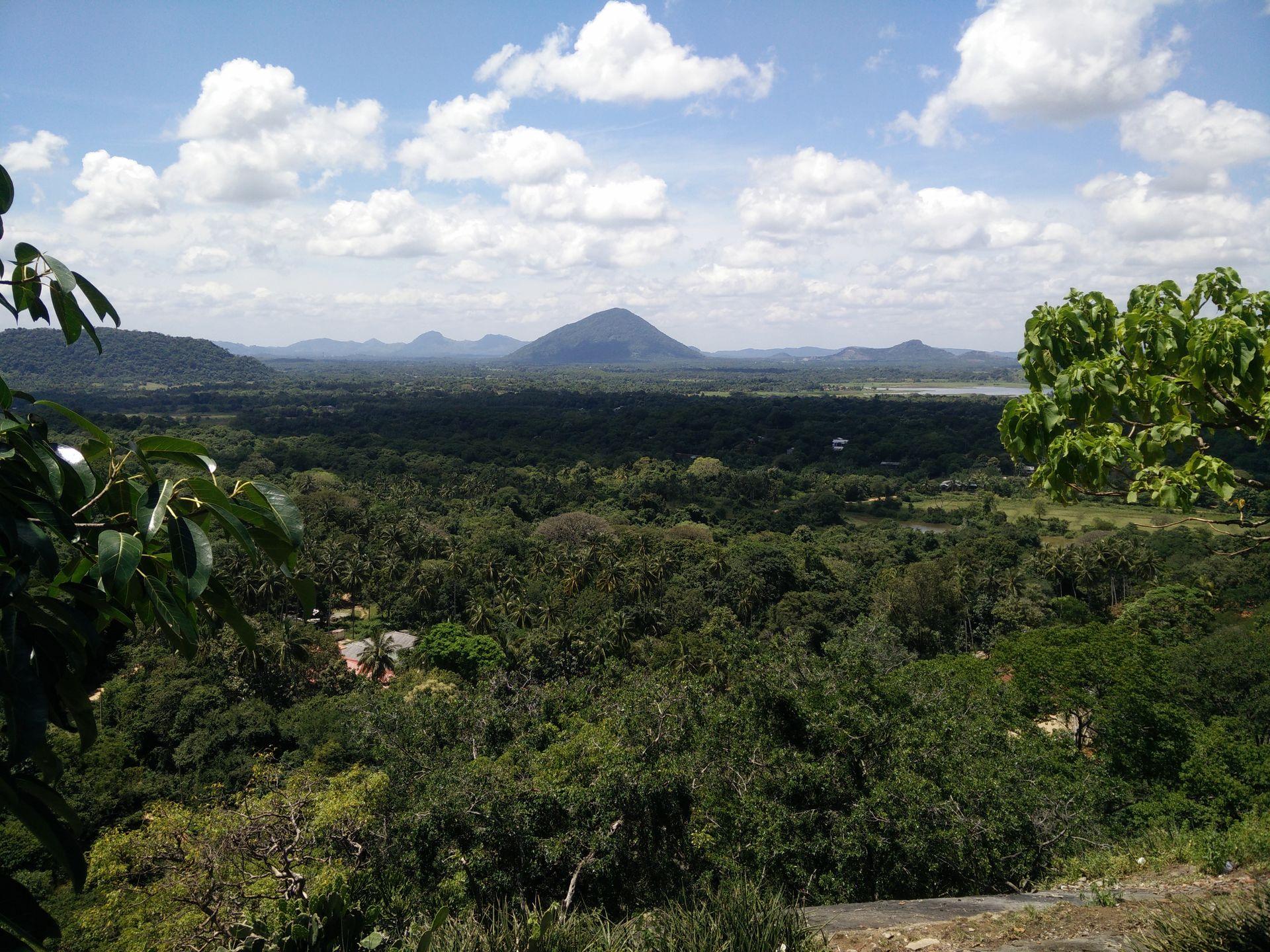 Ausblick vom Dambulla Felsentempel