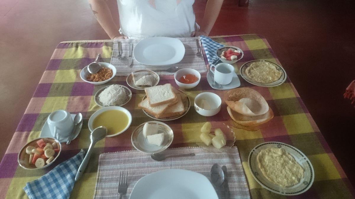 echtes Sri Lanka Frühstück
